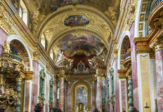 Церковь иезуита, вена стоковые фото