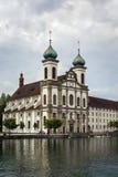 Церковь иезуита, Люцерн стоковое фото rf
