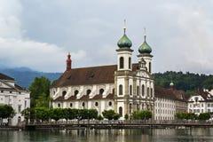 Церковь иезуита, Люцерн стоковые фото
