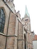 Церковь известного кирпича готская в augsburg Стоковое фото RF