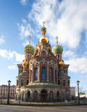 Церковь Иисуса Христоса воскресения на Санкт-Петербурге, России Стоковая Фотография RF