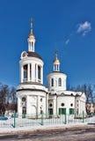 Церковь иконы Theotokos Blachernae в Kuzminki, Москва, Стоковые Фото