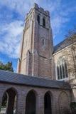 Церковь и голубое облачное небо Стоковое фото RF