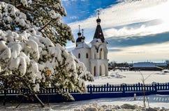 Церковь и дерево стоковые фото