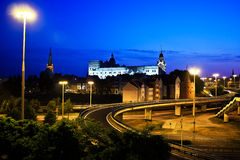 Церковь и замок стоковое изображение