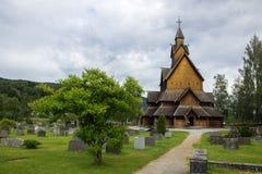 Церковь и кладбище Стоковые Изображения RF
