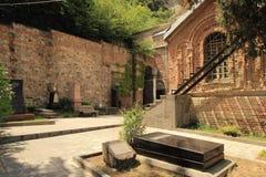 Церковь и пантеон St David писателей и общественных деятелей Georgia в городе Тбилиси, Georgia Стоковые Изображения RF
