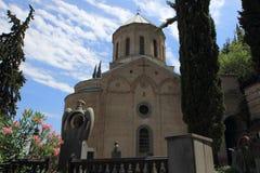Церковь и пантеон St David писателей и общественных деятелей Georgia в городе Тбилиси, Georgia Стоковые Фото