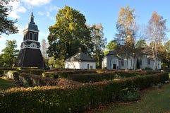 Церковь и парк в Ludvika Швеции, Европе Стоковое фото RF