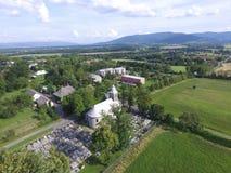 Церковь и cementery Стоковые Изображения RF