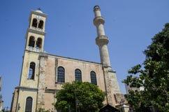 Церковь и Mosjid стоковое изображение rf