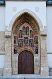 Церковь квадрат St Mark, St Mark, Загреб, Хорватия стоковая фотография