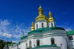 Церковь Киева большая Lavra Vvedenskiy стоковая фотография