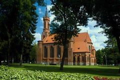 Церковь кирпича в Druskininkai Стоковые Фотографии RF