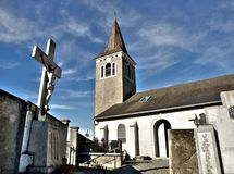 церковь кладбища Стоковые Изображения RF