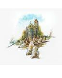 церковь кладбища Стоковые Фотографии RF