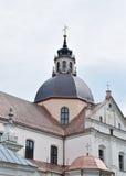 Церковь Корпус Кристи в Niasvizh, Беларуси Стоковая Фотография RF