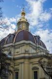 Церковь крепости Питера и Пола где Romanov королевский fa стоковое изображение