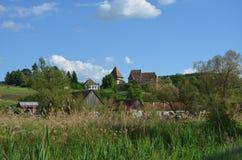 Церковь-крепость Альма VII, Transilvania, Румыния стоковое фото
