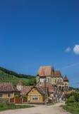 Церковь-крепость в городке Biertan Стоковые Фото