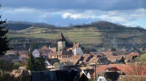 Церковь-крепость Atel в Трансильвании Румынии Стоковые Фотографии RF