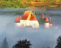 Церковь-крепость Biertan в Трансильвании, Сибиу, Румынии стоковая фотография
