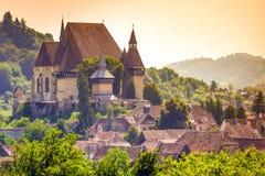 Церковь-крепость Biertan, Румыния стоковое изображение