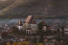 Церковь-крепость Biertan стоковая фотография rf