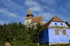 Церковь-крепость Roades, построенная в 1526, Трансильвания, Румыния стоковые изображения rf