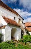 Церковь-крепость Viscri, Трансильвания. стоковое фото rf