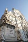 Церковь креста Святого в Флоренсе Стоковые Изображения