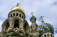 церковь крови наш разленный спаситель Стоковое Фото