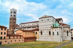 Церковь Лукки, Италии Duomo di Сан Martino в старой части этого города в Италии Стоковые Фотографии RF