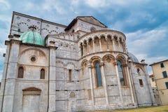 Церковь Лукки, Италии Duomo di Сан Martino в старой части этого города в Италии Стоковое Изображение
