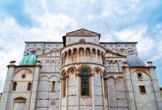 Церковь Лукки, Италии Duomo di Сан Martino в старой части этого города в Италии Стоковые Фото