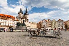 Церковь матери бога перед Tyn в Праге Стоковое Фото