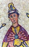 Церковь Моисей Джордан старой мозаики шестого века мемориальная Стоковая Фотография