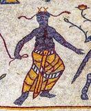 Церковь Моисей Джордан старой мозаики людей шестого века мемориальная Стоковое фото RF