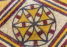 Церковь Моисей Mt Nebo Джордан старой мозаики креста крестоносца мемориальная Стоковые Фото