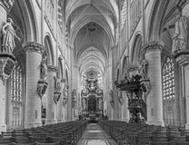 Церковь наша дама через de Dyle стоковые изображения