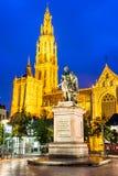Церковь нашей дамы, Антверпен, Бельгия стоковые фото