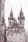 Церковь нашей дамы Перед Tyn, Праги Стоковые Изображения