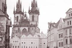 Церковь нашей дамы Перед Tyn, Праги Стоковые Изображения RF