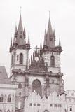 Церковь нашей дамы Перед Tyn, Праги Стоковая Фотография RF