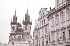 Церковь нашей дамы Перед Tyn, Праги Стоковая Фотография
