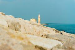 Церковь нашей дамы Анджела на пляже Caorle Италии Стоковые Изображения