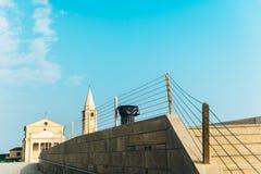 Церковь нашей дамы Анджела на пляже Caorle Италии Стоковое Фото