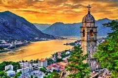 Церковь нашей дамы выхода в Kotor, Черногории стоковые фото
