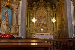 Церковь нашей дамы интерьера Monte, Фуншала стоковое фото rf