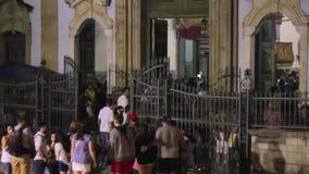 Церковь нашей дамы розария чернокожих, длиной pelourinio, bahi Сальвадора акции видеоматериалы